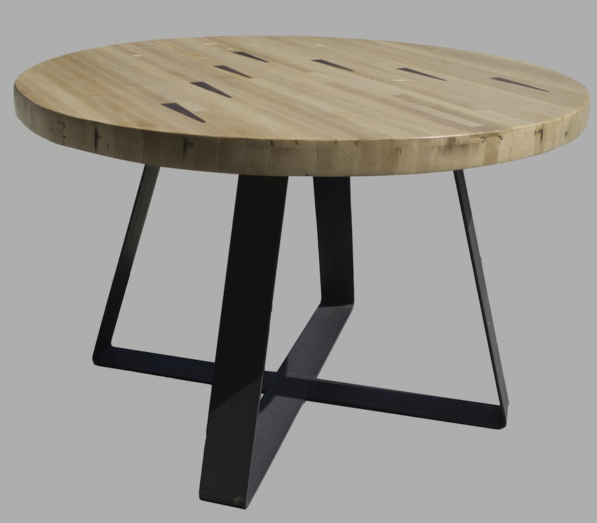 Rollins Console Table: Bowlingalleyround.jpg