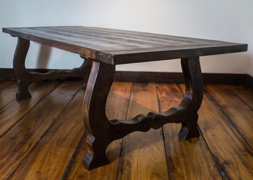 Reclaimed Harp Leg Table
