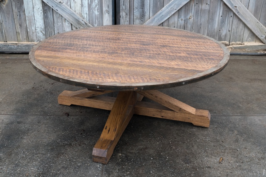 Reclaimed Round Pedestal Table