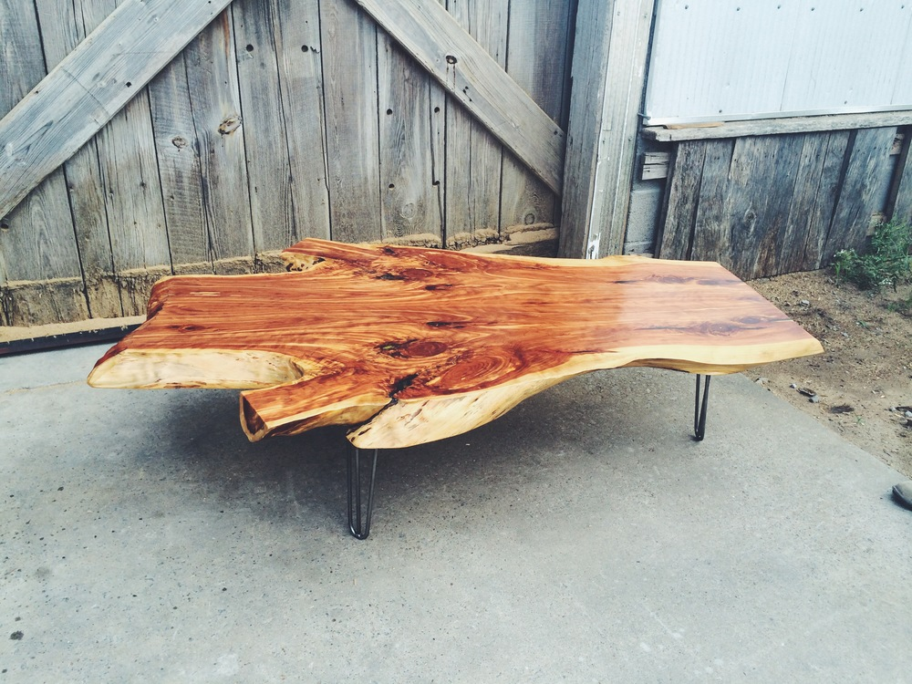 Live Edge Cedar Table
