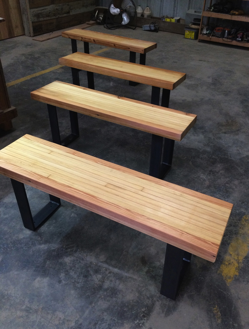 Reclaimed Bowling Alley Benches