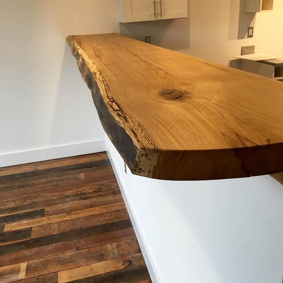 White Oak Live Edge Countertop