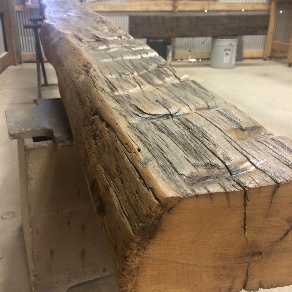 Hand Hewn Oak Beam