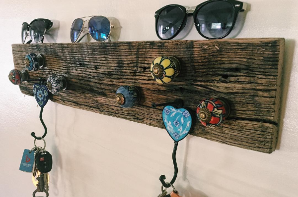 DIY Barnwood Key rack