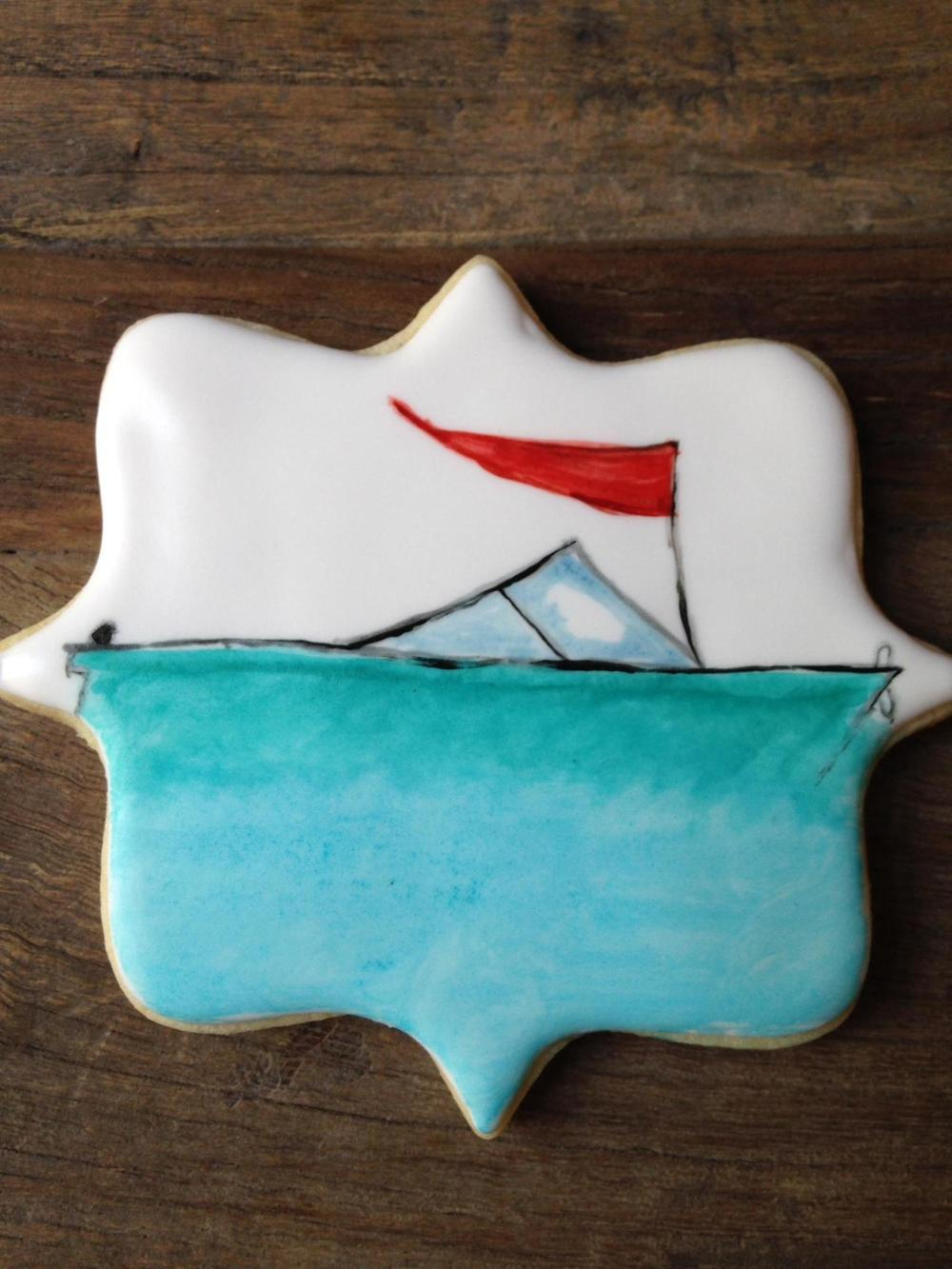CUTE matching cookies by http://FlyingSquirrelCookies.com