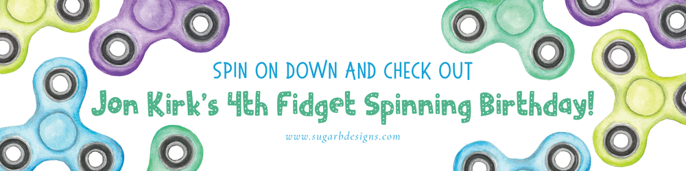 Jon Kirk's 4th Fidget Spinning Birthday by Sugar B Designs
