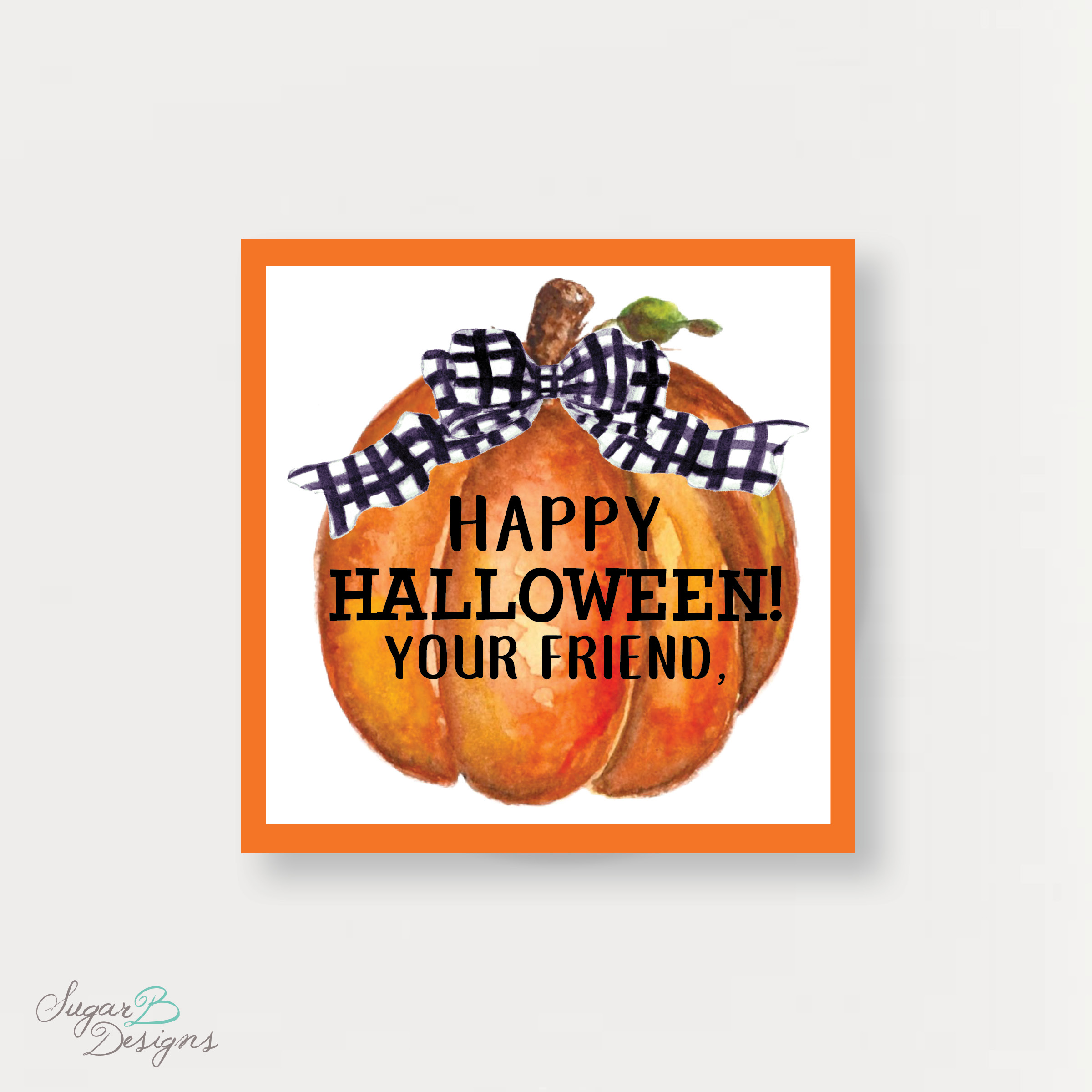 picture regarding Trick or Treat Signs Printable known as Sugar B Programs