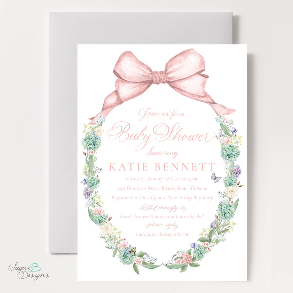 Secret Garden Baby Shower Invitation by Sugar B Designs