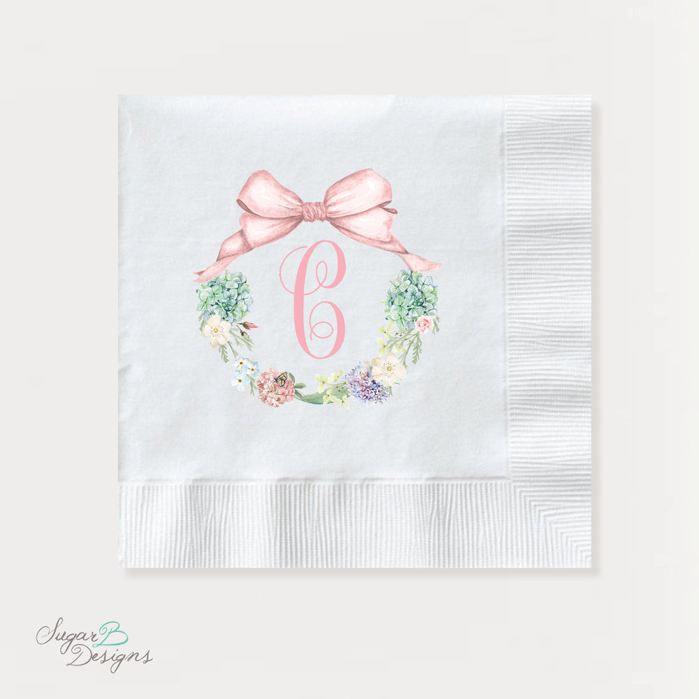 SECRET GARDEN PARTY NAPKINS by Sugar B Designs
