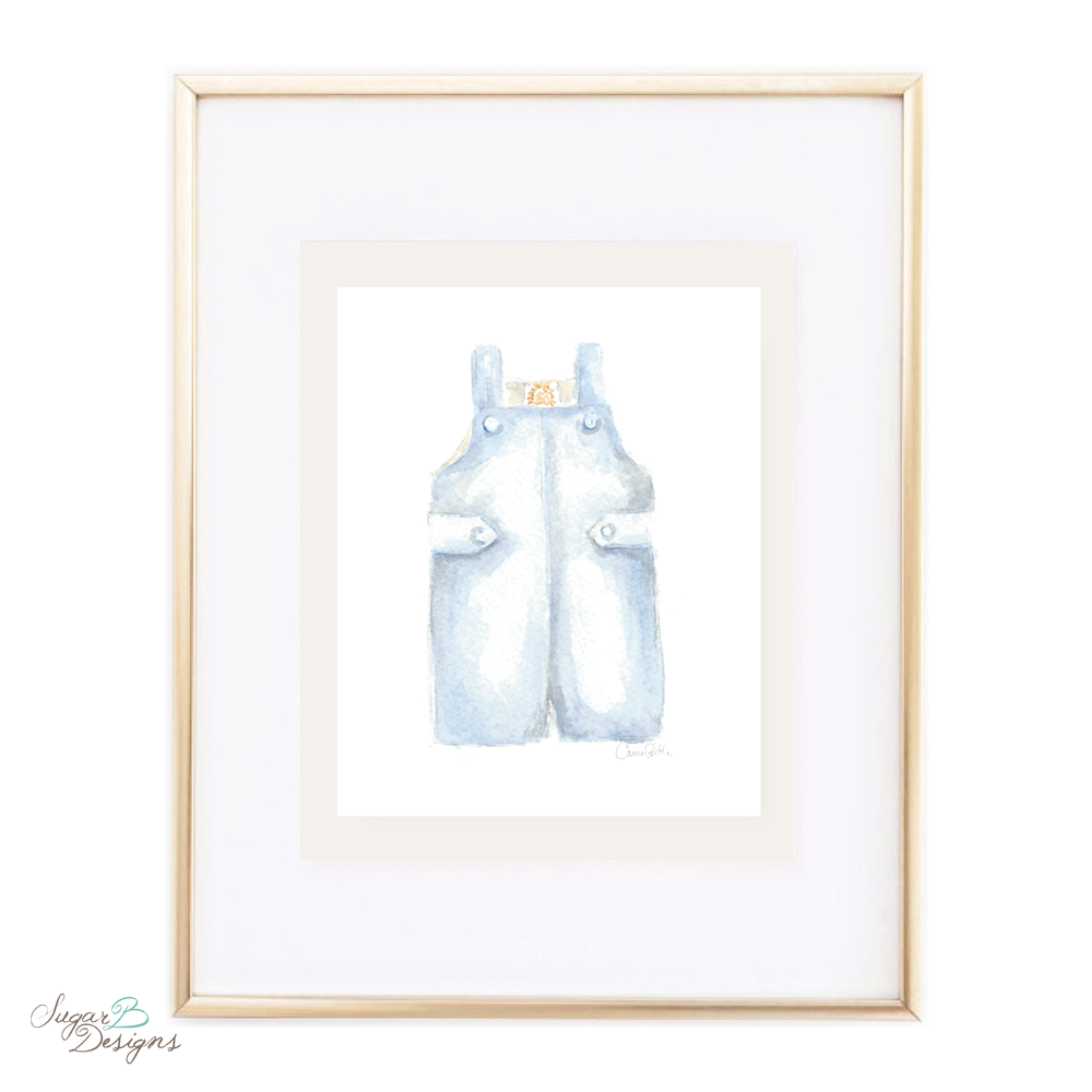 Boy John John Watercolor Print by Sugar B Designs