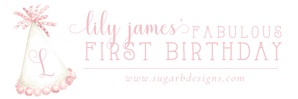 Lily James Fab First Birthday by Sugar B Designs