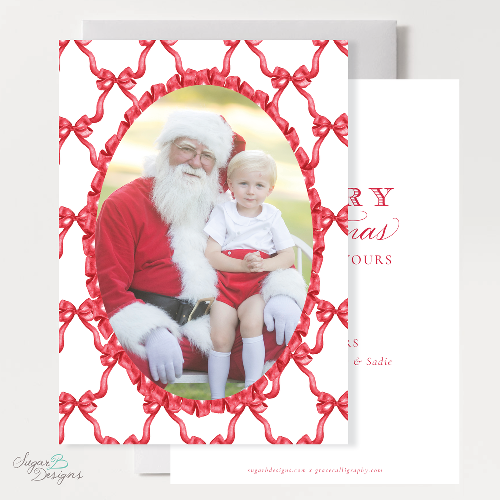 Leslee Bow Red Christmas Card front and back by Sugar B Designs.png