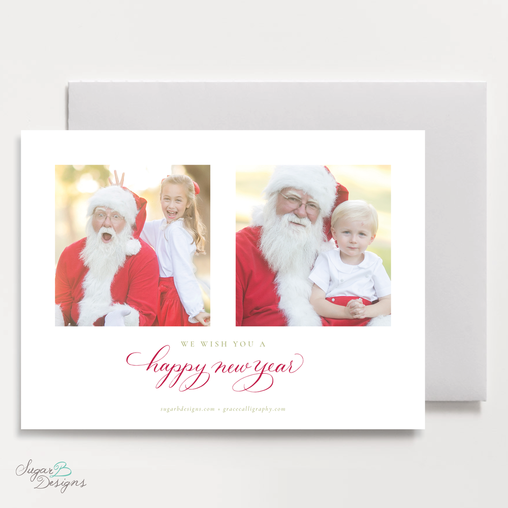 Meryl Wreath Red Christmas Card LANDSCAPE back by Sugar B Designs.png
