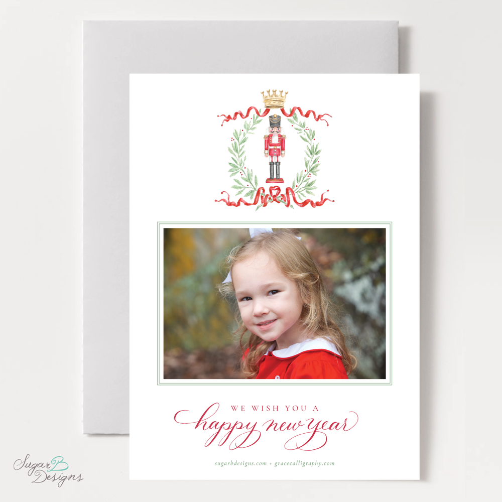 Nutcracker Royal Wreath Christmas Card backer by Sugar B Designs.png
