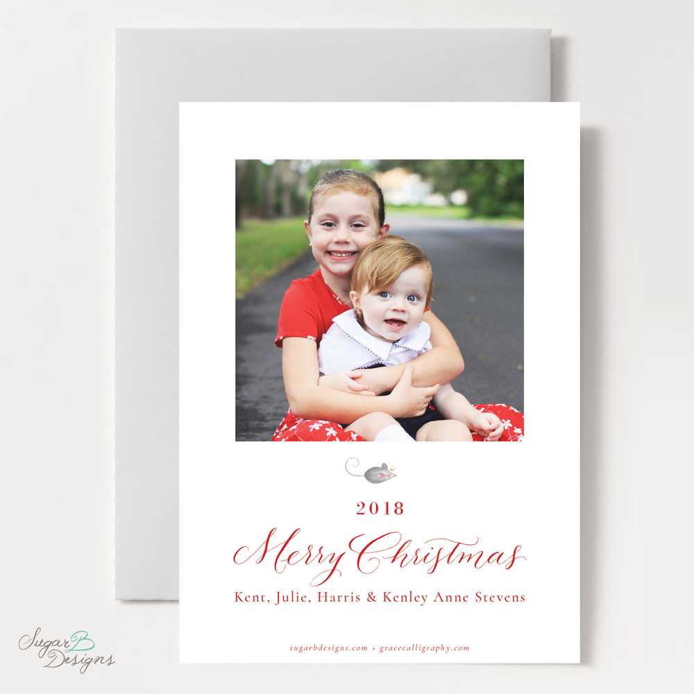 Nutcracker Suite Single Photo on Back Christmas Card back by Sugar B Designs.png