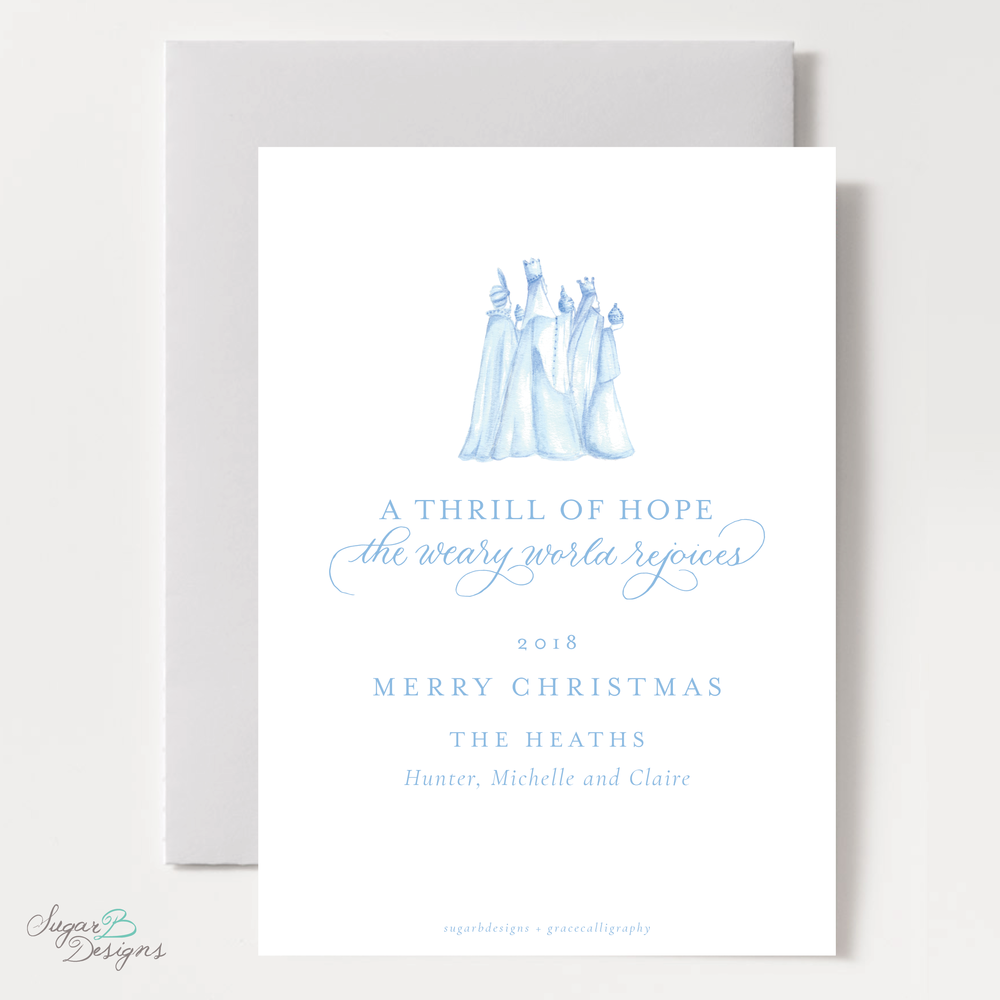Wise Men Posie Pattern Christmas Card backer by Sugar B Designs.png