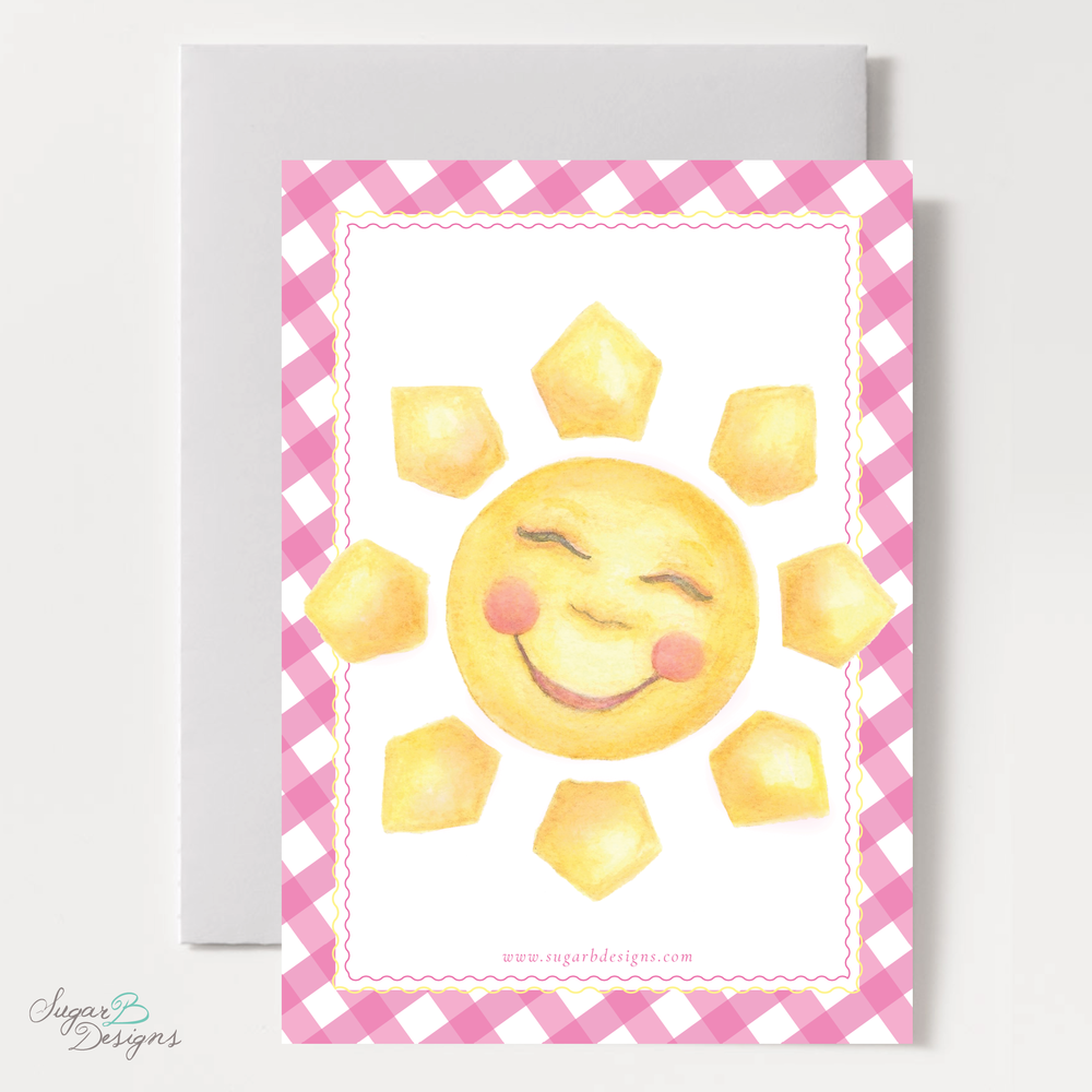 Sunshine Hot Pink Invitation backer by Sugar B Designs.png