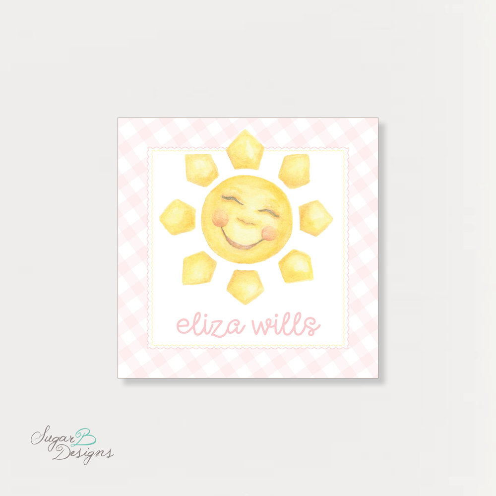Sunshine in Pink Sticker by Sugar B Designs.jpg