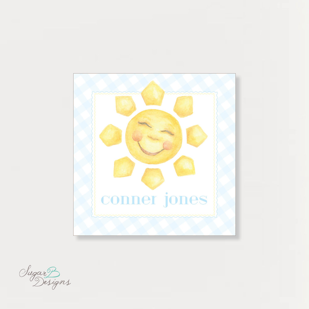 Sunshine in Blue Calling Card by Sugar B Designs.jpg