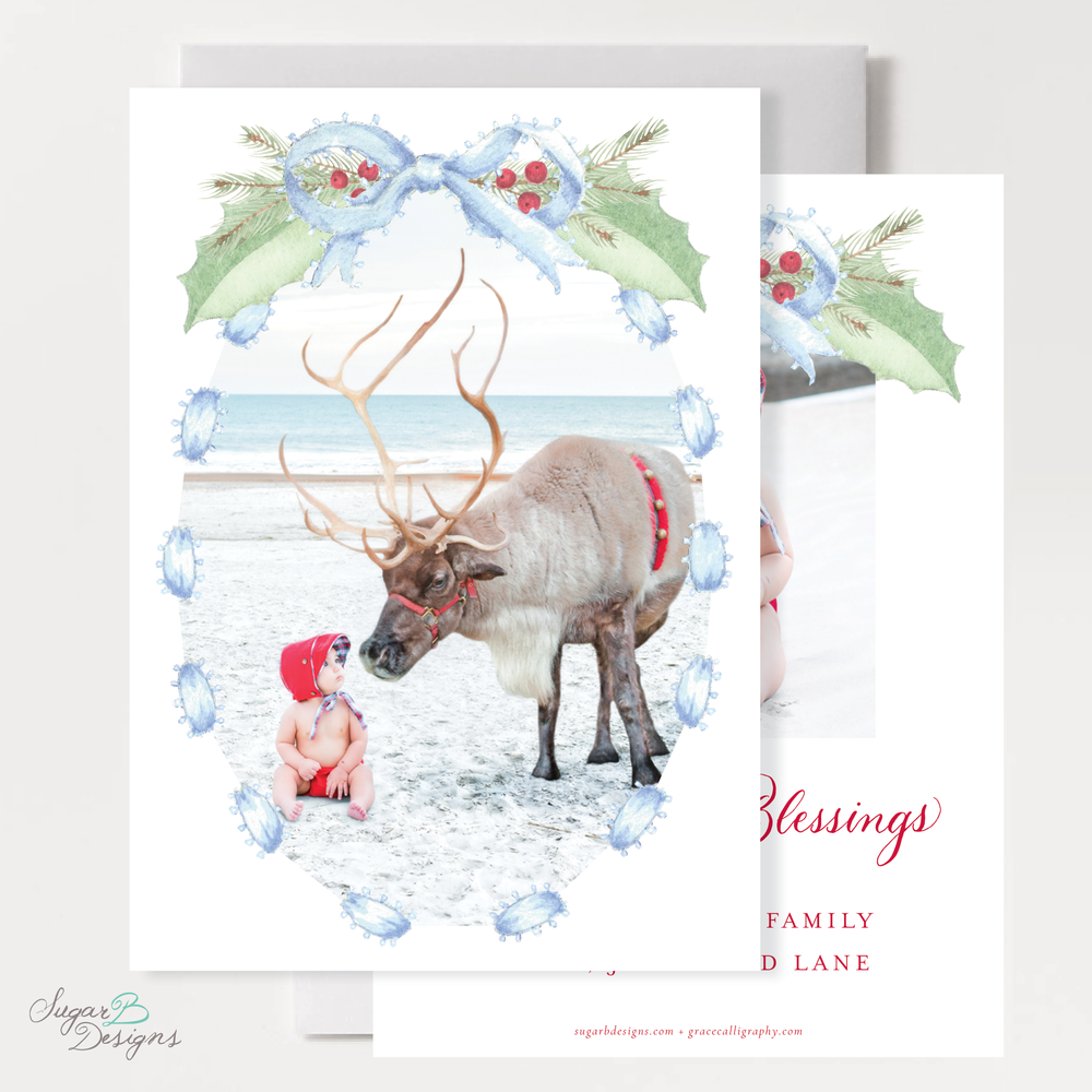 Collins Blue Christmas Card front + back by Sugar B Designs.png