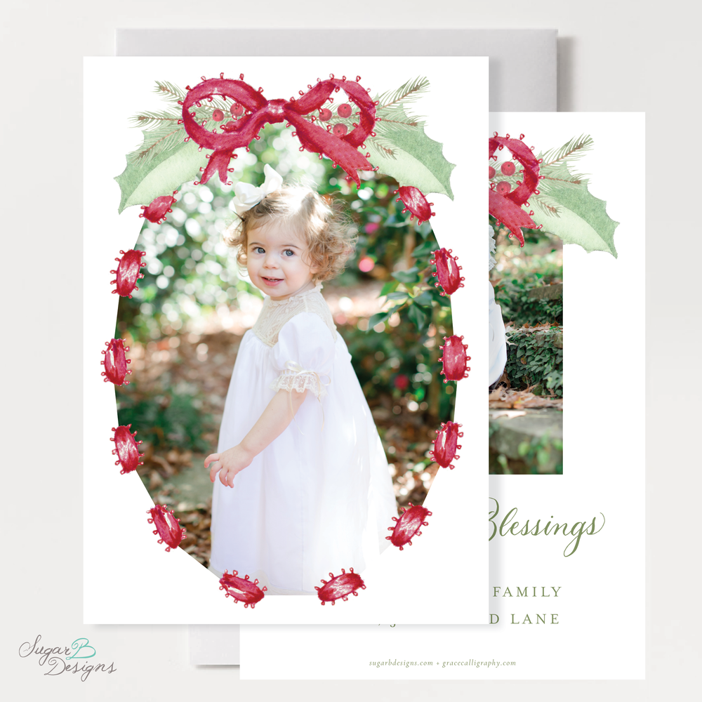 Collins Red Christmas Card front + back by Sugar B Designs.png