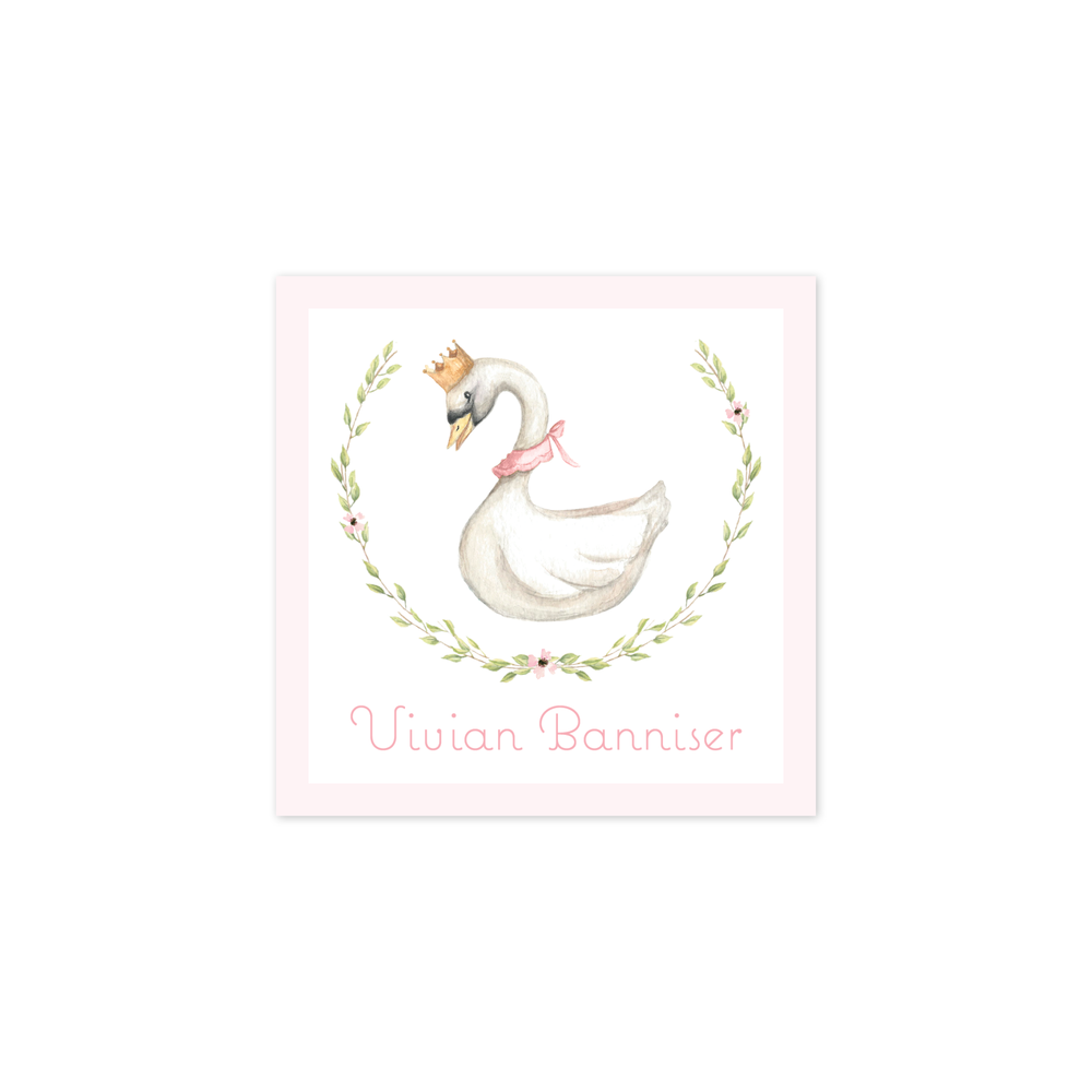 Swan Princess Wreath Calling Card