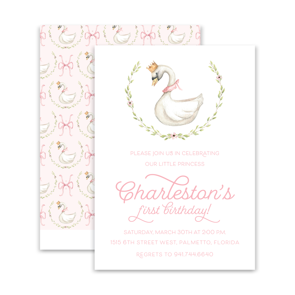 Swan Princess Invitation