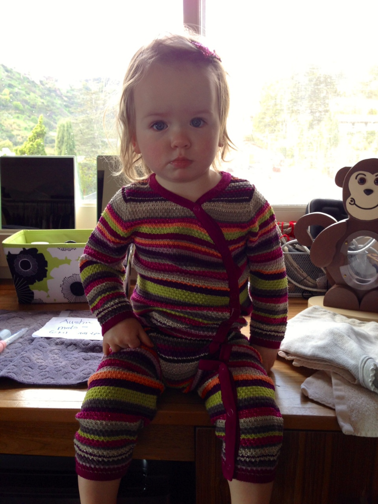 My client's daugher Cleo in her first Missoni from Target Outfit - A closing gift from yours truly (I HAD to).