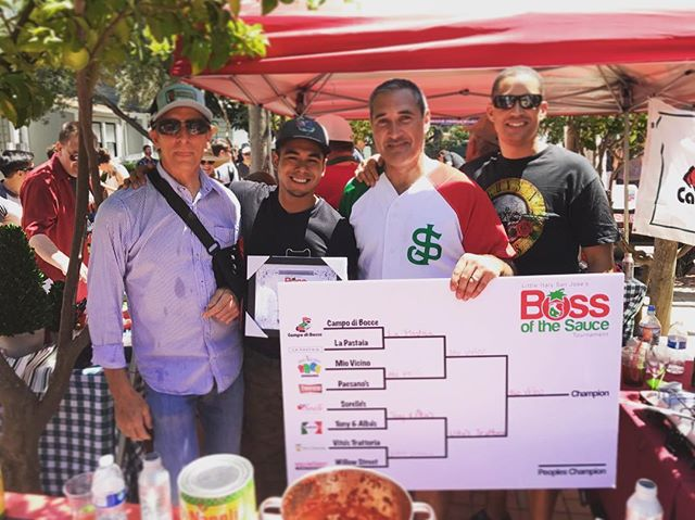 #TBT To winning the San Jose's little Italy #bossofthesauce contest! Our #marinara #sauce really made an impact in the judges mouths. The event was a blast!  Don't miss this upcoming year's event! Try all the sauces :) #miovicino#miosaratoga#miovicinosaratoga#lasagna#italianfood#miosfamily#italiandinner#foodie#homemade#dinnerandwine#dinnerdate#italiansanjose#italianfoodlover#saratoga#santaclara#miosantaclara