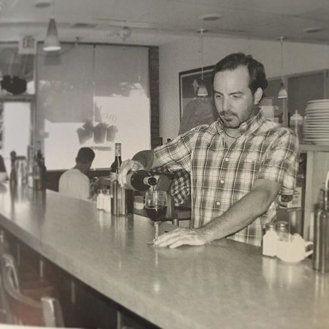 Blast from the past!  Our amazing boss Sean Caldwell pouring up some joy!  Caldwell began work at the restaurant in 1993 as a busboy. After spending four years moving  up from a busboy to waiter, and finally becoming a partner, Caldwell bought the business in 2001! ♥️🍝🍷 #miovicino#miosaratoga#miovicinosaratoga#lasagna#italianfood#miosfamily#italiandinner#foodie#homemade#dinnerandwine#dinnerdate#italiansanjose#italianfoodlover#saratoga#santaclara#miosantaclara