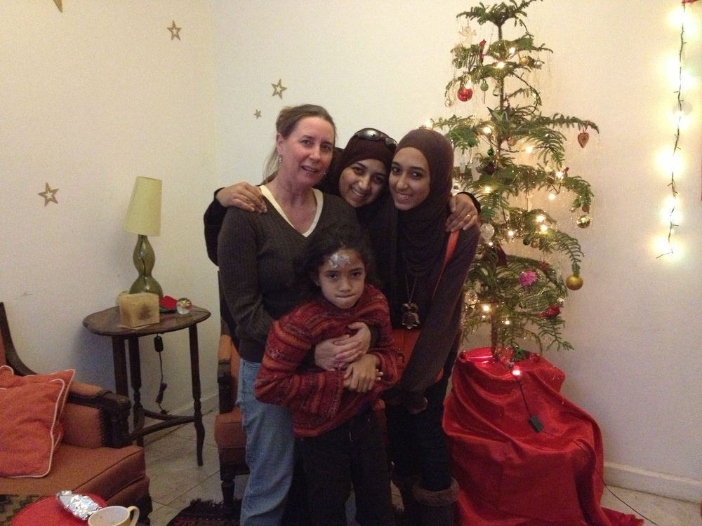 Christmas with Mona and her girls, 2012