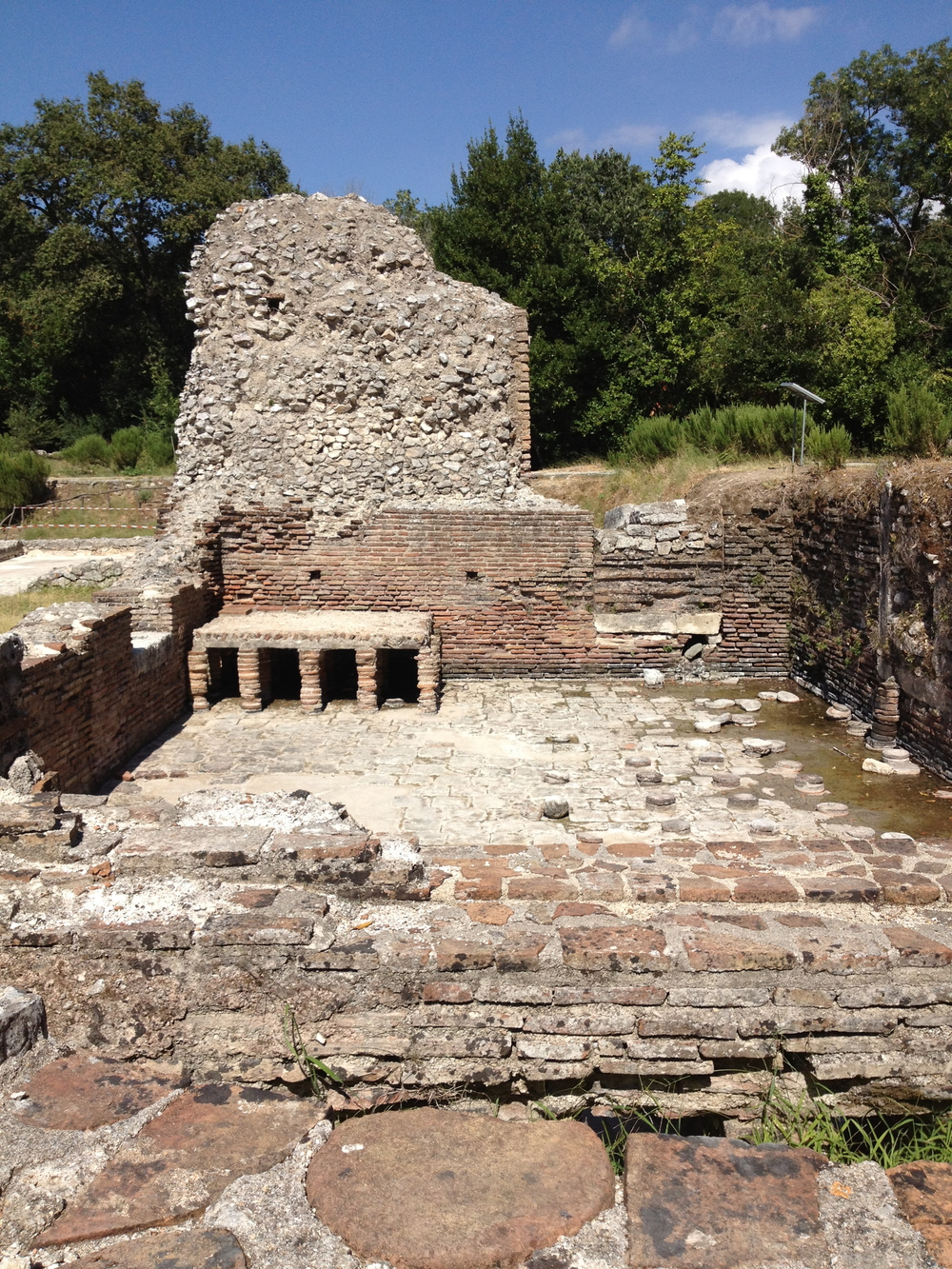 Remains of the Roman bathhouse, Butrint, Albania