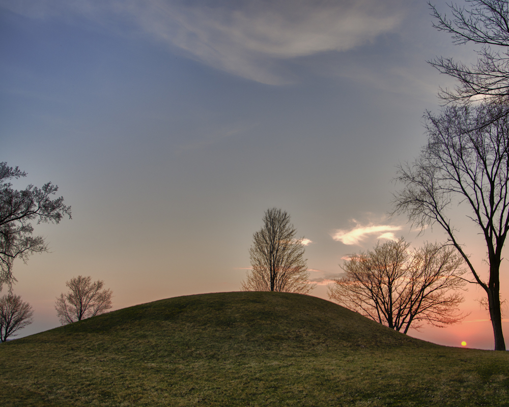 Marker Mound Sunset