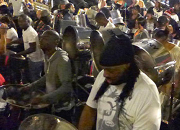 BBC/PRI's THE WORLD   LONDON CARNIVAL / STEELPAN REHEARSALS