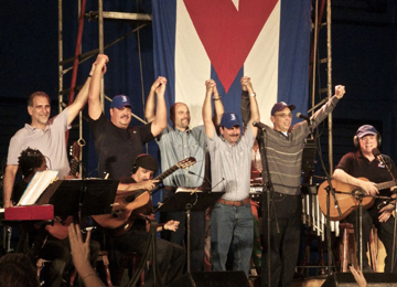 BBC/PRI's THE WORLD  MUSICAL HOMECOMING FOR THE CUBAN FIVE