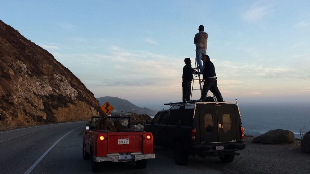 Behind the scenes - Big Sur, HWY 1
