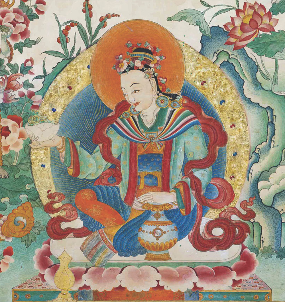 Yeshe Tsogyal Mural, Samye, Tibet