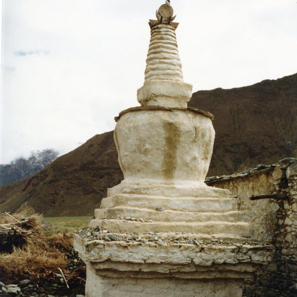 Tsogyal Birth Stupa, 1996. J. Mandell