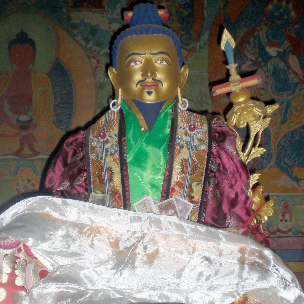 Jigme Lingpa statue at Tsogyal Latso 2009. Lama Dechen Yeshe Wangmo