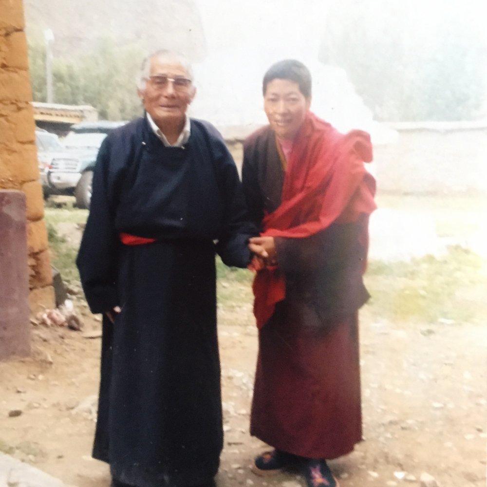 Ani Samten with Chonyi Rinpoche, 2005 or 2008. Photo Ani Samten