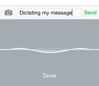 dictating on iphone
