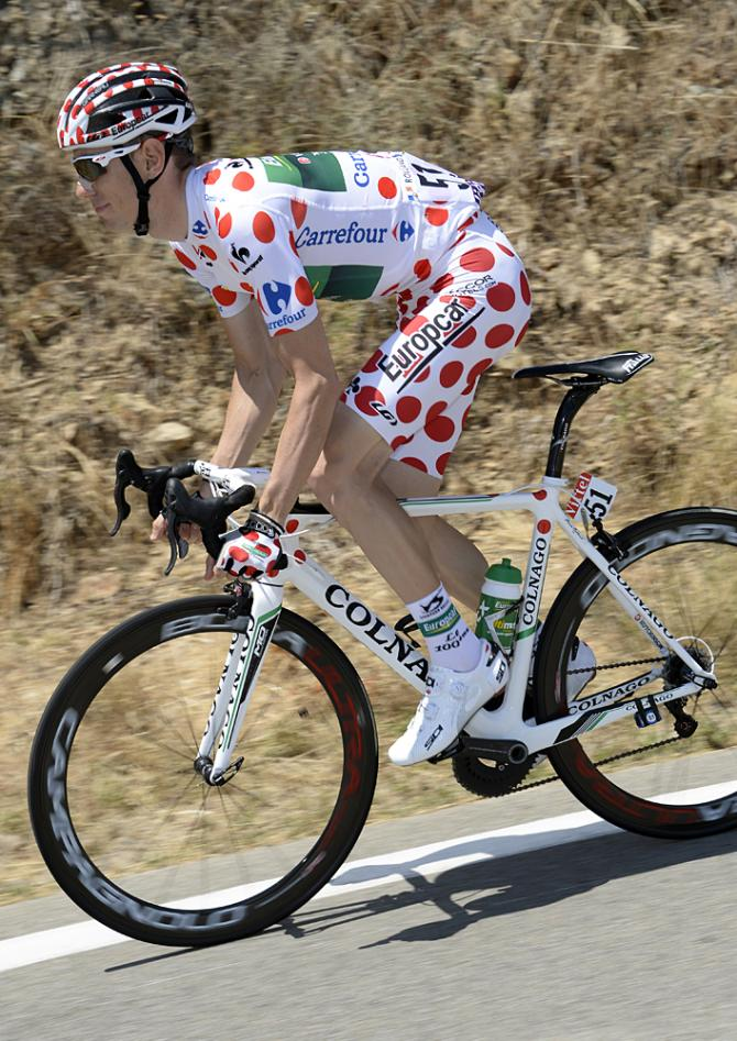 Clarke chasing the coveted spotted dick kit, as worn by Rolland.