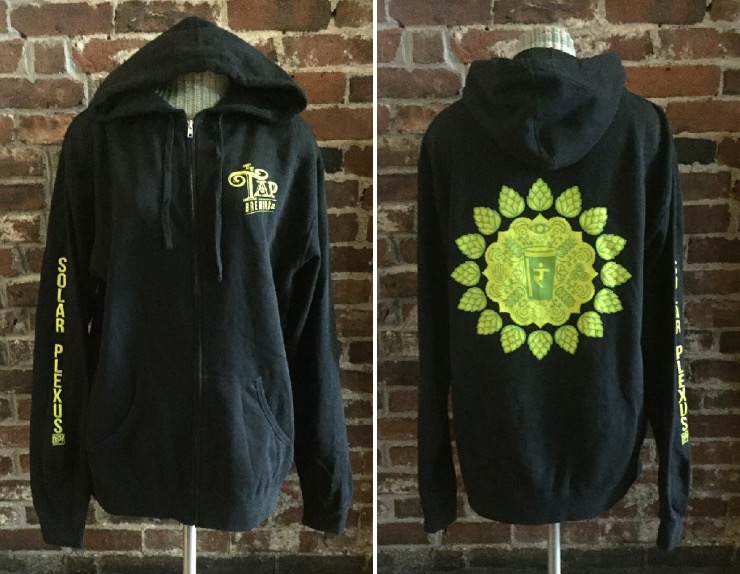Solar Plexus Lightweight Zip-up Hoodie. Made from extremely soft, premium lightweight 80% cotton 20% polyester blend fleece and has a slim fit.