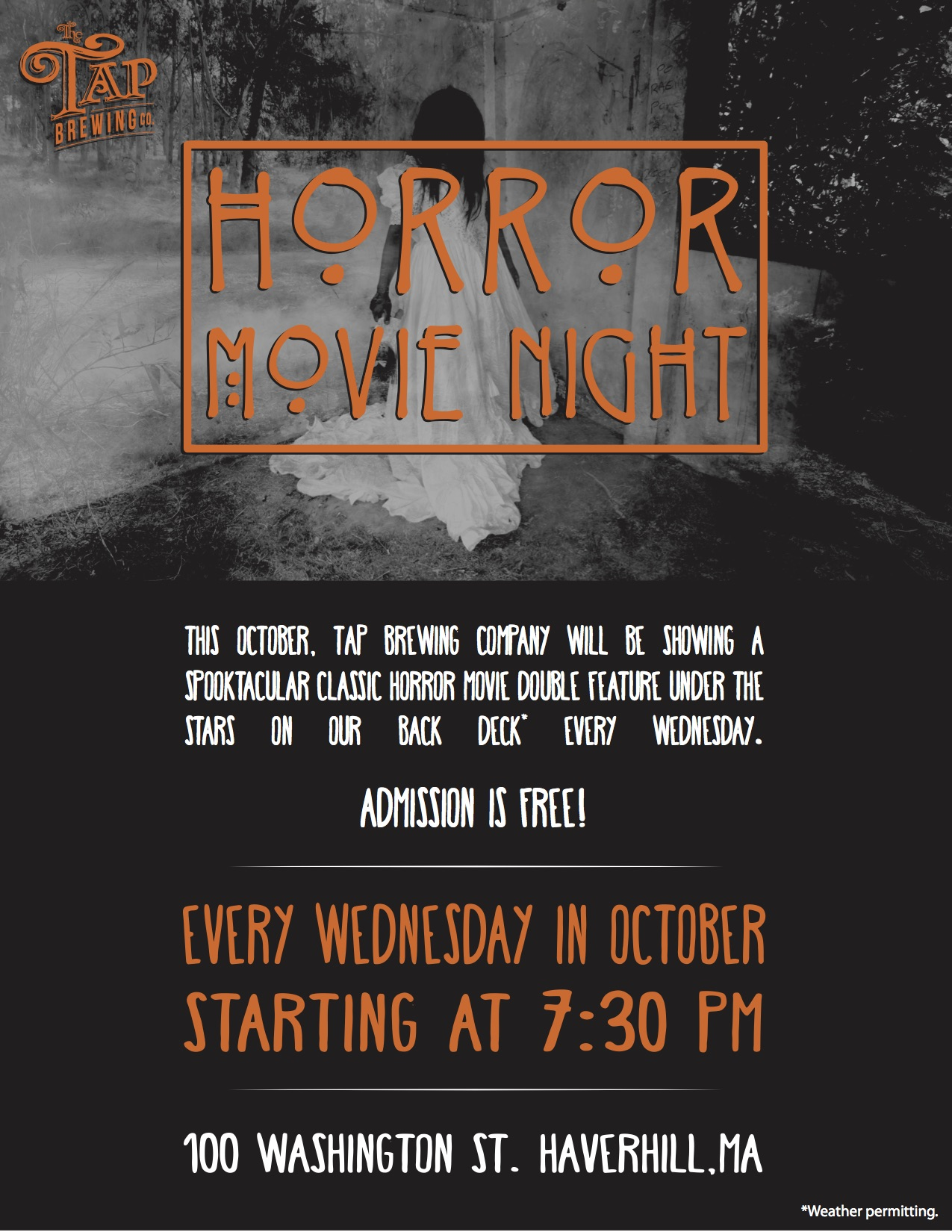 Horror Movie Night The Tap Brewing Company