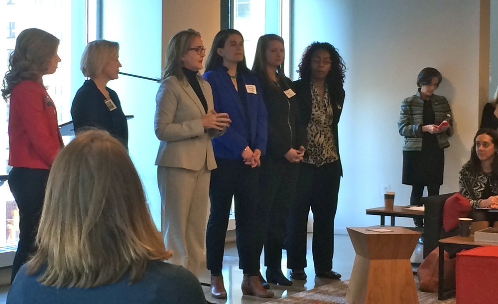 From left: State Senate candidates Katie Muth and Maria Collette, U.S. Congress candidate Madeleine Dean, and State Rep. candidates Elizabeth Fiedler, Maggie Borski and Wanda Logan.