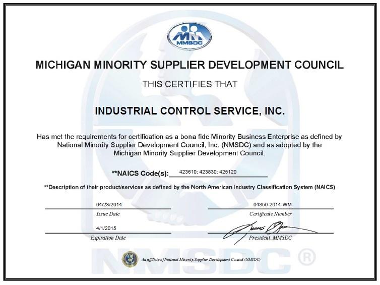 2014 Industrial Control Minority Certificate.jpg