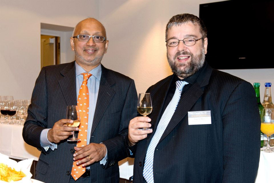 Prof. Venkat N. Venkatraman, Boston University, unser Forschungspartner zum Thema Digital Business Excellence, mit Ruedi Meyer, Board Member, sieber&partners.