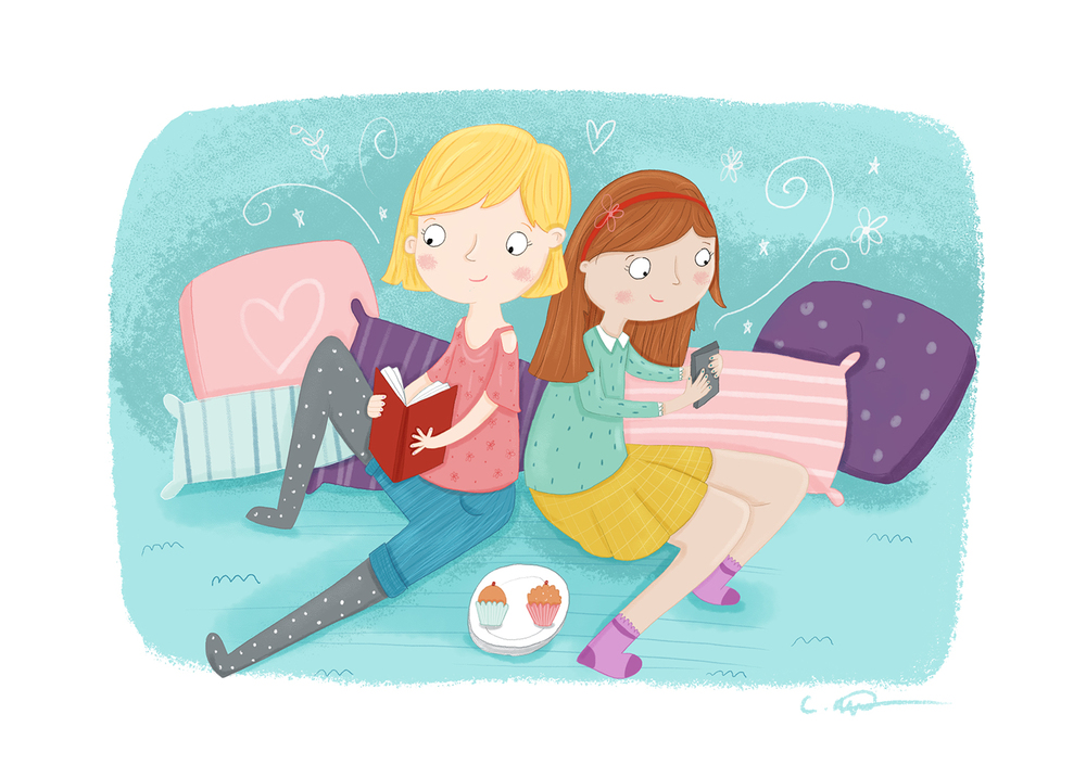 louise wright friendship illustration