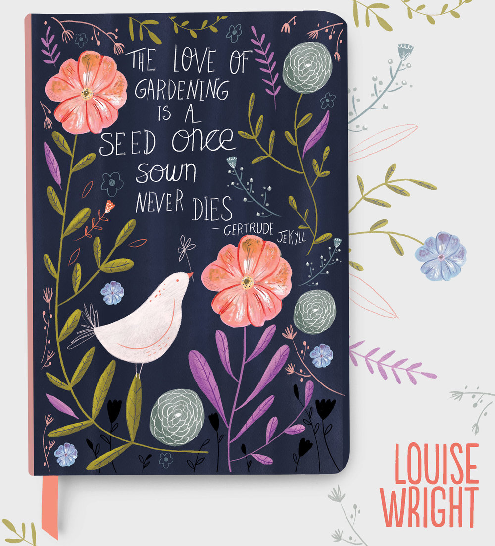 Gardening Journal Cover Mock Up