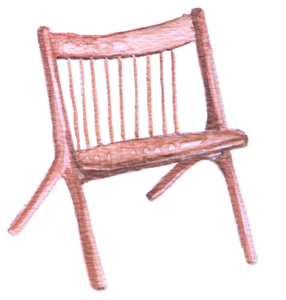 Oskar Armless Lounge Chair